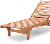 Strathwood Basics Hardwood Chaise Lounge