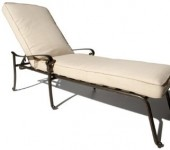 Strathwood St Thomas Cast Aluminum Chaise Lounge