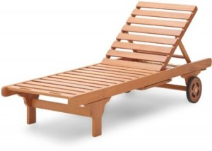 Strathwood Basic Hardwood Chaise Lounge