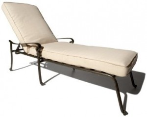 Strathwood St Thoms Cast Aluminum Chaise Lounge